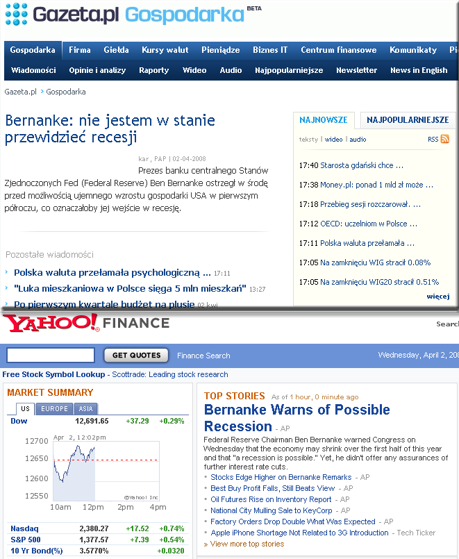 Gazeta vs Yahoo